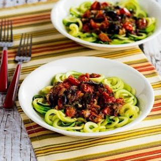Mediterranean Zucchini Noodles (Low-Carb, Gluten-Free, Paleo, Vegan).