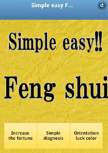 Simple easy Feng shui