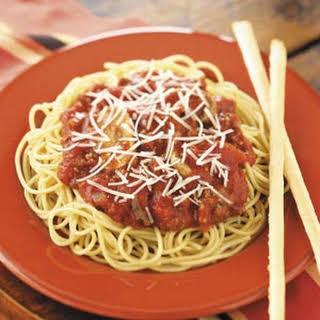 Mushroom-Beef Spaghetti Sauce.