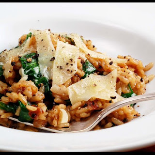 Pancetta and Spinach Risotto.