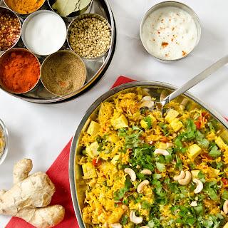 Indian Spiced Briyani with Tofu.