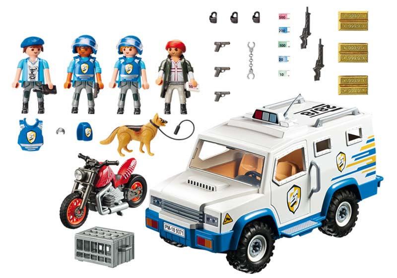 Contenido real de Playmobil® 9371 Vehículo Blindado