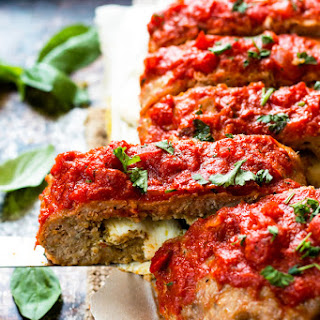 Pesto & Mozzarella Stuffed Meatloaf.