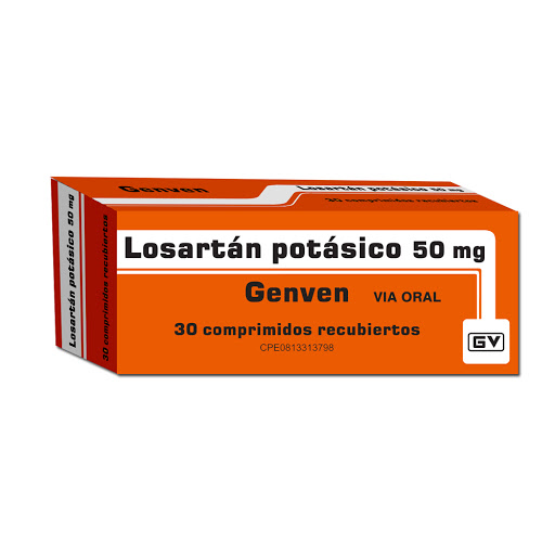 Losartan Potasico Genven 50mg x 30 Comprimidos Genven