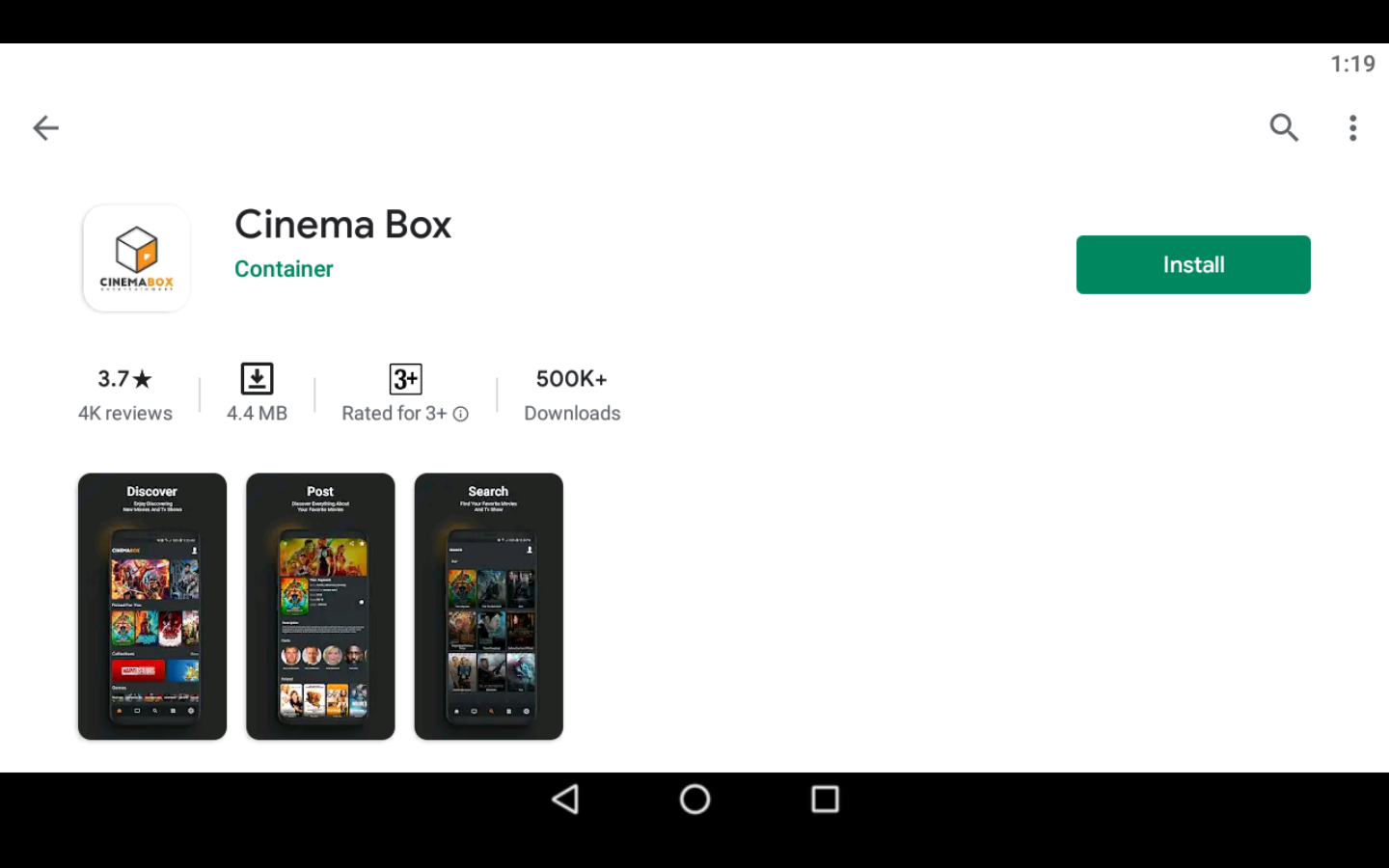 Cinema Box app on PC