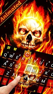 Live Fire Skull Keyboard Theme