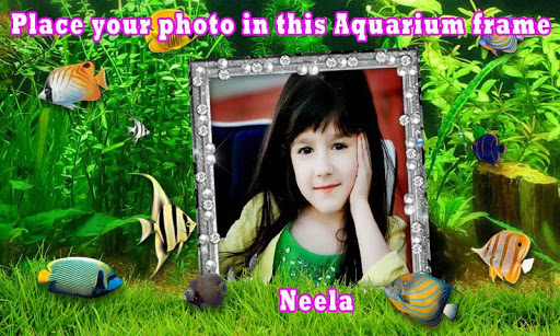 Aquarium photo frame effects