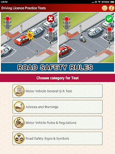 Driving Licence Practice Tests & Learner Questions Screenshot