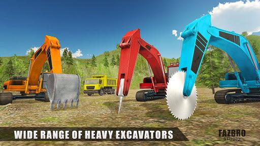 Heavy Excavator Rock Mining Stone Cutter Simulator 4.2 screenshots 1