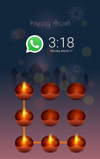 Happy Diwali AppLock Theme screenshot 1