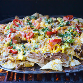 Grilled Carnitas and Chorizo Nachos