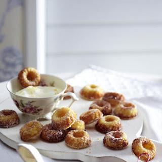 Mini Marzipan Doughnuts