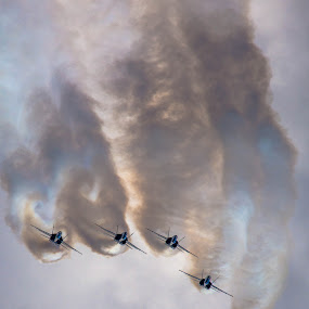 Blue Angels by Darrin Halstead - Transportation Airplanes ( sky, navy, jet, smoke, blue angels, airshow,  )