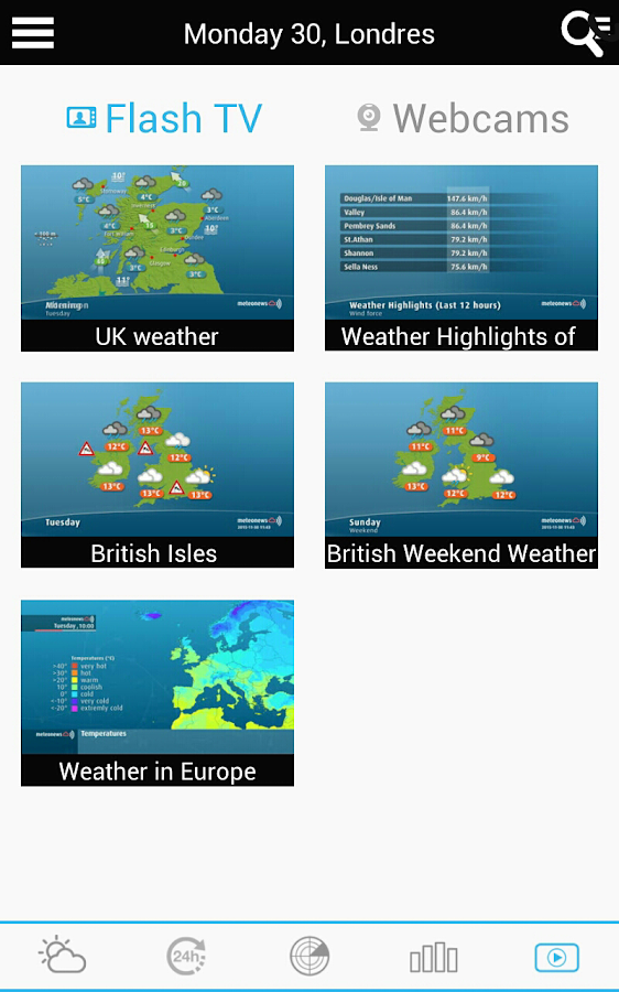 Weather for the Netherlands- screenshot