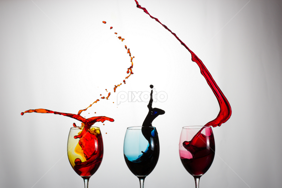 by Marius Cloete - Artistic Objects Other Objects ( water, colour, liquid, glasses, splash, color )