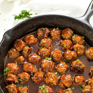 Bacon Honey Bourbon Chicken Meatballs