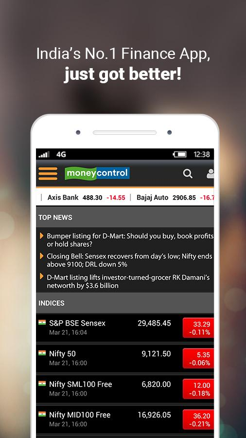 Moneycontrol – Stocks, Sensex, Mutual Funds, IPO Screenshot
