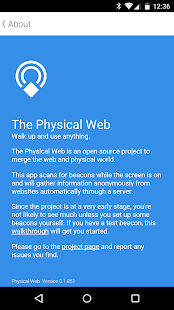 Physical Web- screenshot thumbnail