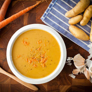 Carrot, Potato, & Leek Soup.