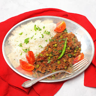 Indian Spiced Beef with Peas.