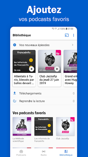 Radio France - podcasts, direct radios 6.5.2 screenshots 4