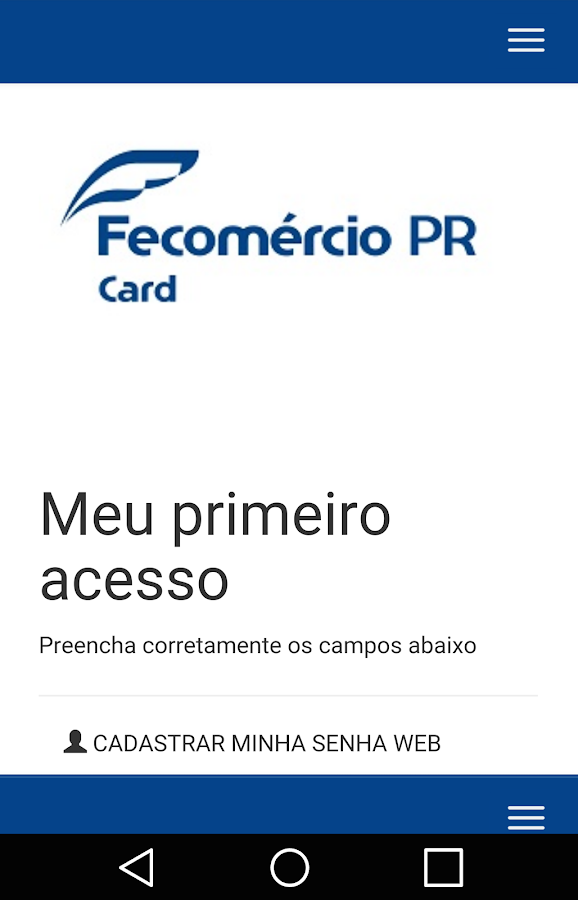 Fecomércio PR Card- screenshot