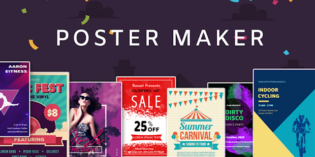 Poster Maker Flyer Maker 2020 free graphic Design Screenshot