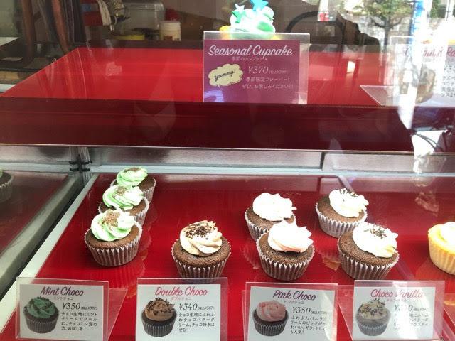 カップケーキ専門店の商品