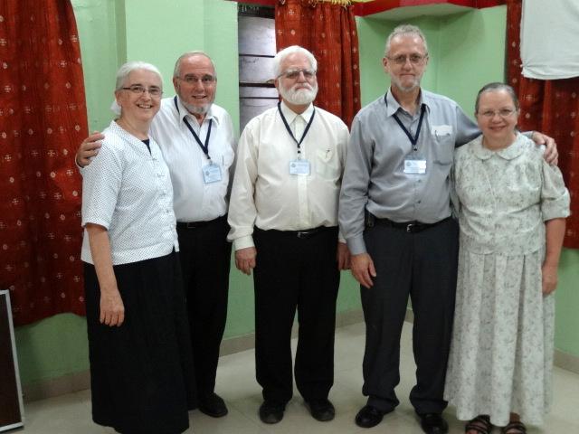 Photo: The MTM Teaching Team L-R; Naomi & Raymond Burkholder, John D Martin from Shippensburg, PA, Melvin & Anna Kauffman from Mbeya, Tanzania.