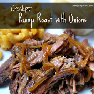Crockpot Rump Roast with Onions.