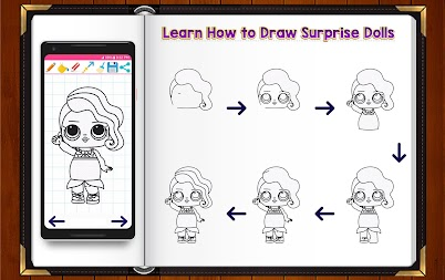 Learn How to Draw Cute Surprise Dolls APK screenshot thumbnail 1