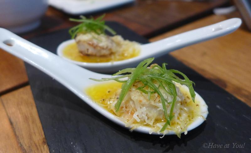 Parmesan scallops