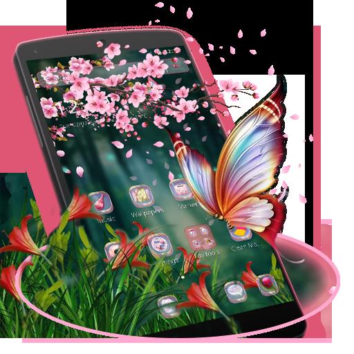 Pink Sakura Butterfly Theme
