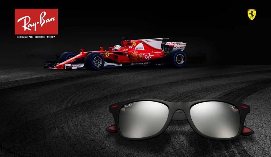 Ray Ban and Ferrari lanceren een nieuwe samenwerking