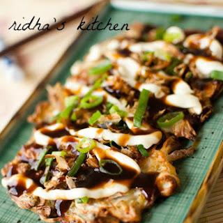 Okonomiyaki (Japanese Savoury Pancake).