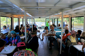 Photo: Aboard the Hiawatha, guests enjoy the variety of viewing options with 2 decks and front row seating.