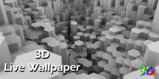3D Black Live Wallpaper