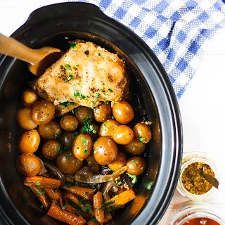 Slow Cooker Honey Dijon Chicken & Vegetables.