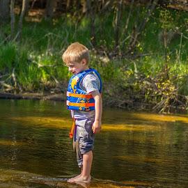 Walking on Water by Ronda Alex-Szankin - Babies & Children Children Candids