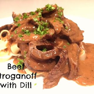 Beef Stroganoff with Dill