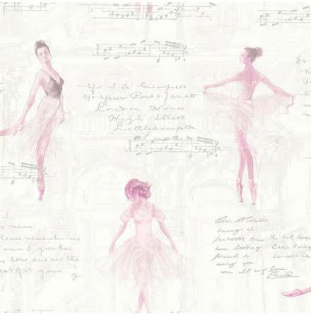 Arthouse Tapet med balettdansöser 668200