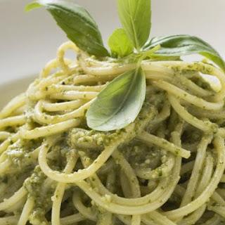 Pesto and Basil Spaghetti