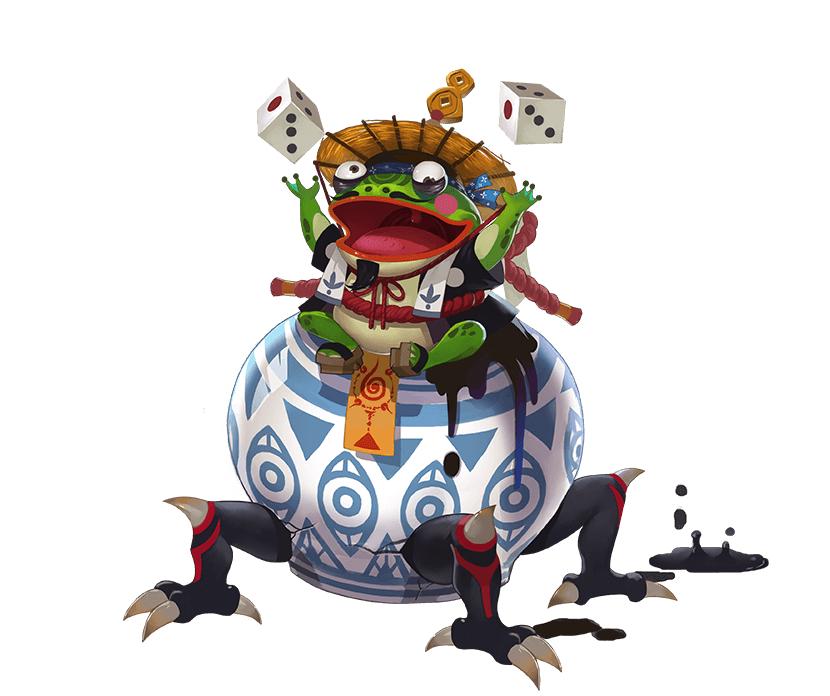 磁器蛙覚醒前