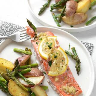 Sheet Pan Lemon Pepper Salmon and Vegetables.