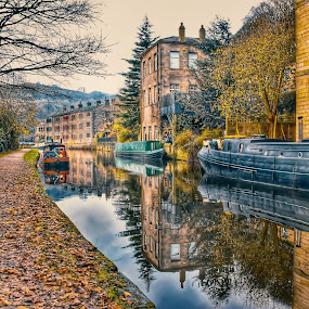 DOWN THE CANAL by Betty Taylor - Buildings & Architecture Other Exteriors ( hdr, waterscape, reflections,  )