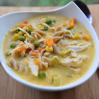 Slow Cooker Homestyle Chicken Noodle Soup.