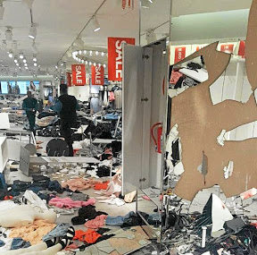 The H&M store at Clearwater Mall after EFF members ransacked this H&M store over the company's racially offensive advert. Picture: SUPPLIED