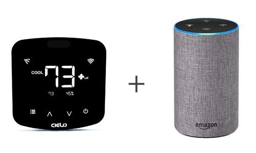 Thermostat  intelligent Cielo Breez Plus compatible avec Alexa