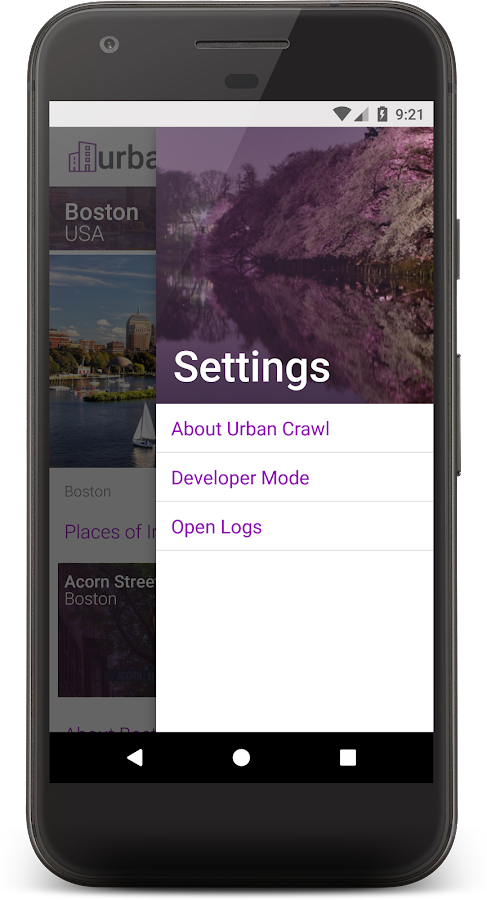 Urban Crawl - MAP SDK Reference App- screenshot