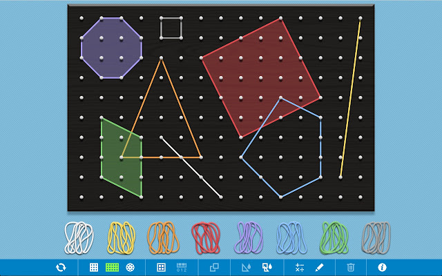 Geoboard, by The Math Learning Center Screenshot